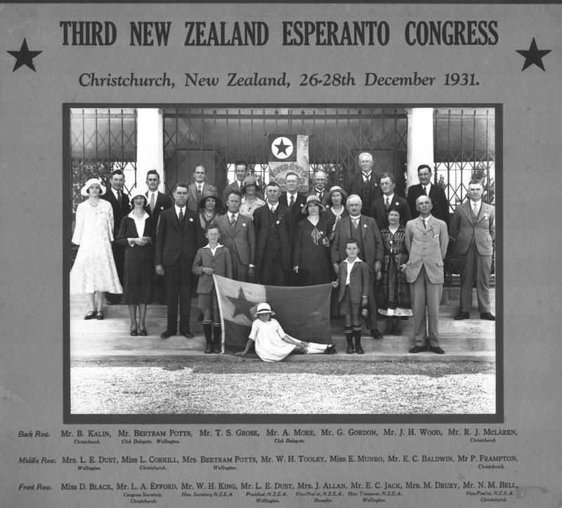 Third New Zealand Esperanto Congress, 1931.