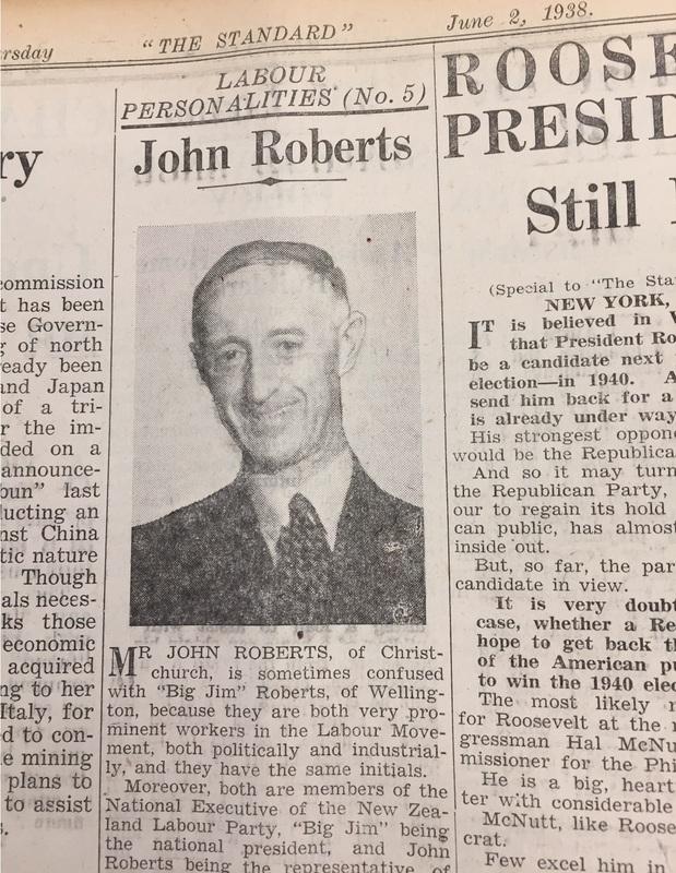 John Roberts profile in The Standard, June 2 1938
