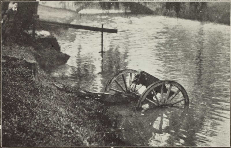 Machine gun in Avon River