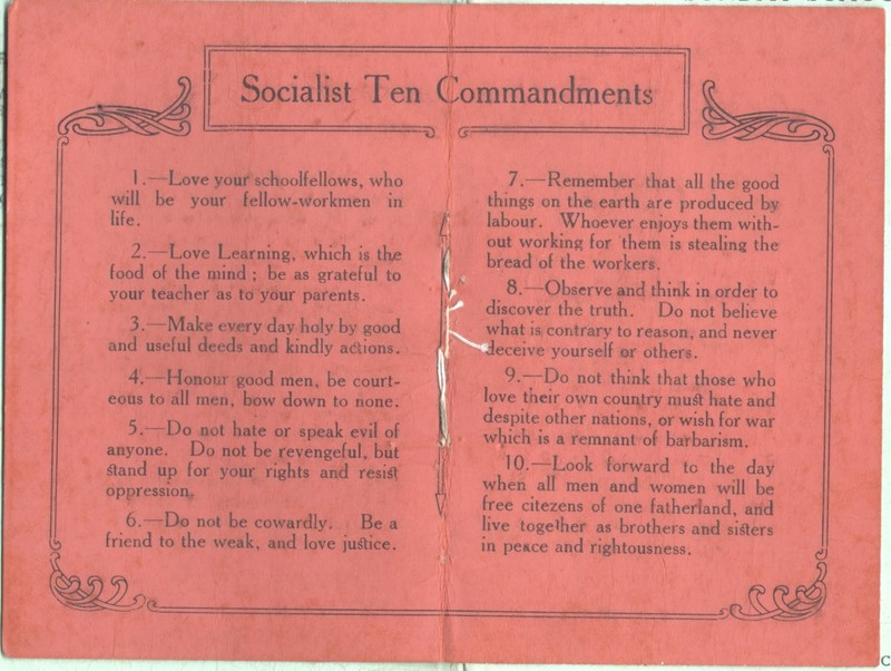 The 'Socialist Ten Commandments'