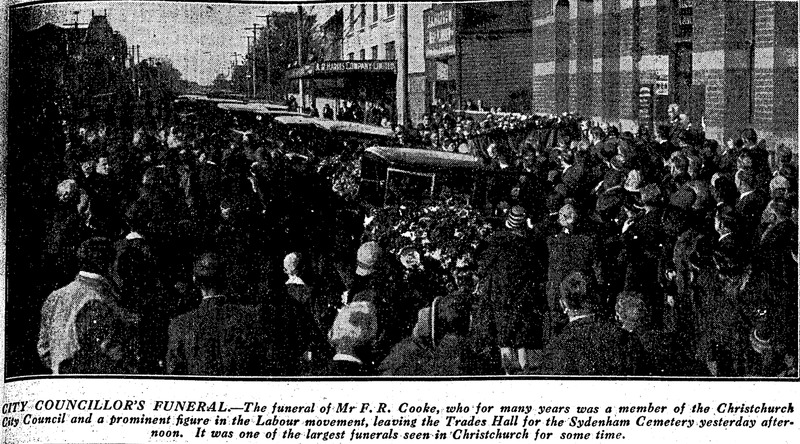 Funeral of Fred Cooke