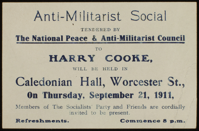 Anti-Militarist pamphlet 1911