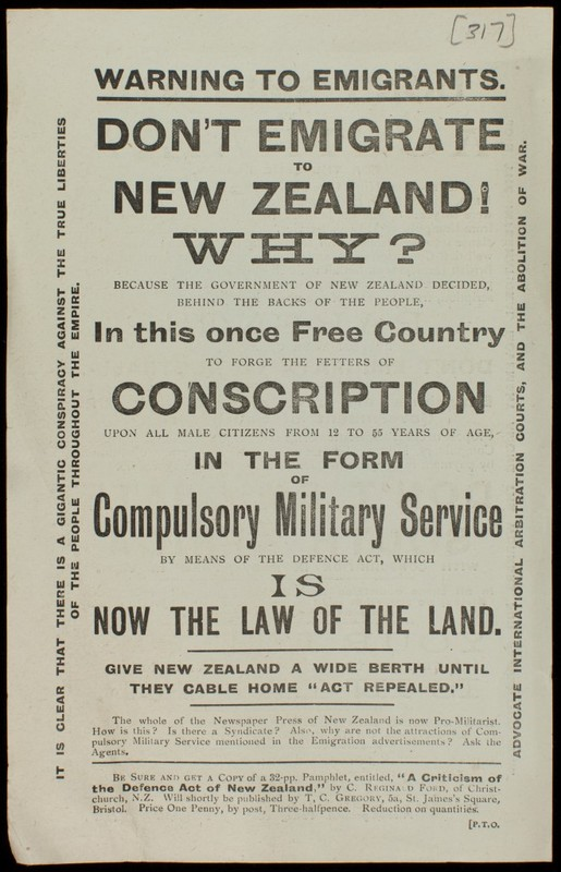 'Don't Emigrate to New Zealand! Why?' Leaflet
